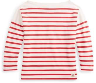 Ralph Lauren Striped Boatneck Cotton Top