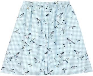 Cath Kidston Seagull Check Cotton Sateen Skirt