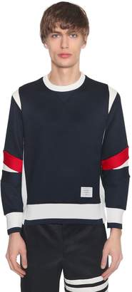 Thom Browne Patchwork Jersey Sweatshirt W/ Stripes