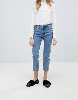 Monki Monokomi Cropped Straight Leg Jeans