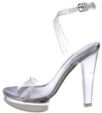 Stuart Weitzman PVC Ankle Straps Sandals