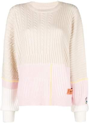 Heron Preston colour-block long sleeve sweater