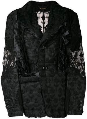 Comme des Garcons lace button-down jacket