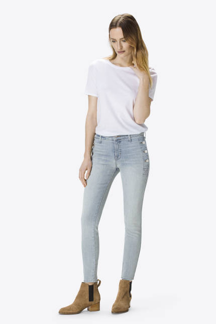 J Brand Zion Mid-Rise Skinny with Button Pockets In Clean Remnant