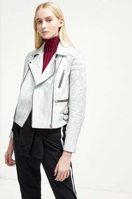French Connenction Emelisse Leather Biker Jacket
