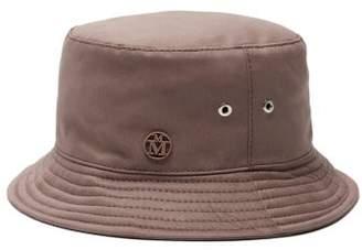 Maison Michel Jason Quilted Brim Hat - Womens - Brown
