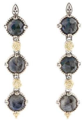 Konstantino Labradorite & Quartz Doublet Drop Earrings