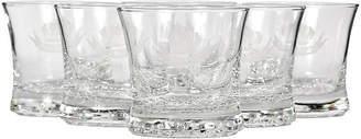 One Kings Lane Vintage Clear Glass Highball Tumblers - Set of 6 - 2-b-Modern