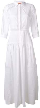 Ermanno Scervino embroidered trim shirt dress
