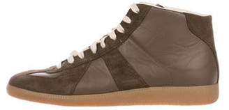 Maison Margiela Suede & Leather Sneakers