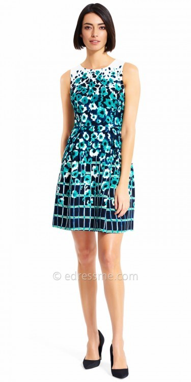 Adrianna PapellAdrianna Papell Water Color Floral Print Cocktail Dress