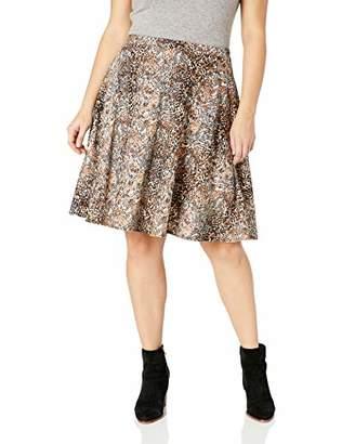 cbd0ff7428 Star Vixen Women's Plus-Size Full Knee-Length Ponte Knit Skater Skirt