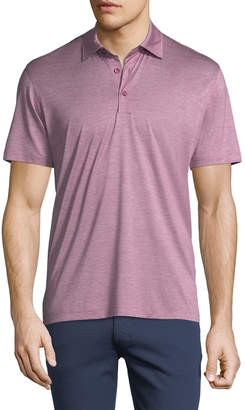 Ermenegildo Zegna Fine-Stripe Cotton Polo Shirt