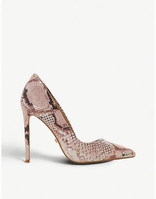 Dune Banksy snake-print pointed-toe stiletto heels