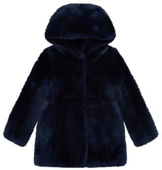 Yves Salomon Hooded Rabbit Fur Coat