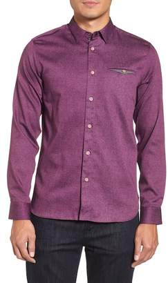 Ted Baker Norbor Modern Slim Fit Microdot Print Sport Shirt