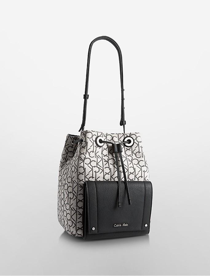 Calvin KleinKira Drawstring Logo Bucket Bag