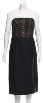 Akris Strapless Knee-Length Dress