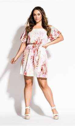 City Chic Citychic Caribbean Dress - ivory
