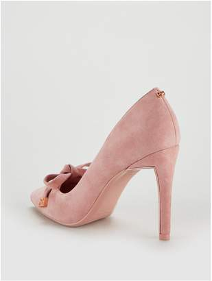 1b9d7bf1907c Ted Baker Gewell Bow Court Shoe - Mink Pink