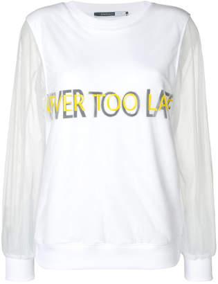 Sportmax Code voile sleeves sweatshirt