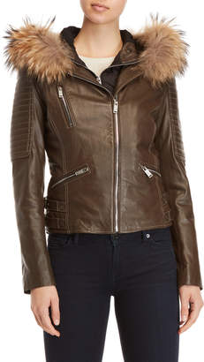 Moto Intuition Arly Real Fur-Trimmed Jacket