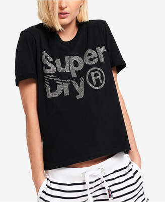 Superdry Cotton Embellished Graphic T-Shirt