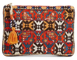 Steven By Steve Madden Lunar Beaded Pouch - Red $68 thestylecure.com