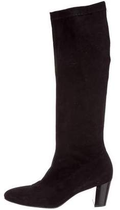 83838b607a1 Robert Clergerie Black Suede Boots For Women - ShopStyle Canada