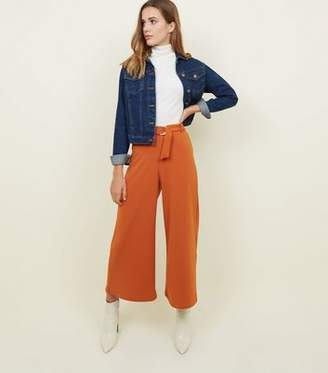 New Look Rust D-Ring Belt Cropped Trousers