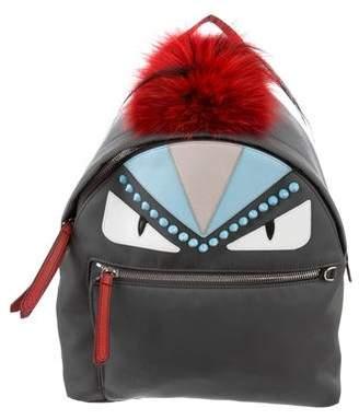 Fendi Fur-Trimmed Monster Backpack
