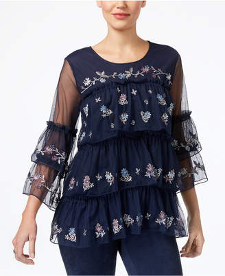 Style&Co. Style & Co Tiered Ruffled Top, Created for Macy's