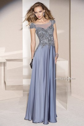 Alyce Paris Mother of the Bride - 29651 Dress in Slate Blue $328 thestylecure.com
