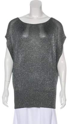 Alice + Olivia Metallic-Accented Knit Top