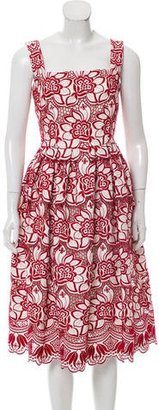 Dolce & Gabbana Guipure Lace Midi Dress w/ Tags