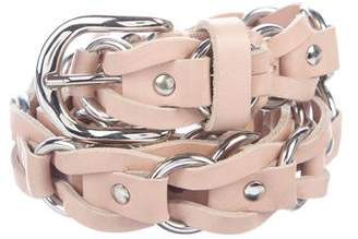 Isabel Marant Leather Chain-Link Belt