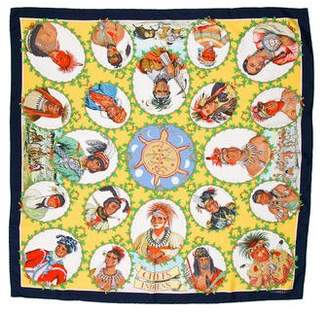 Hermes Chefs Indiens Silk Scarf w/ Tags