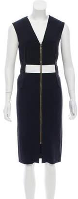 Roland Mouret Sleeveless V-Neck Dress