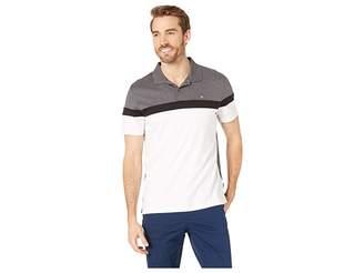 Calvin Klein Short Sleeve Color Blocked Button Placket Polo