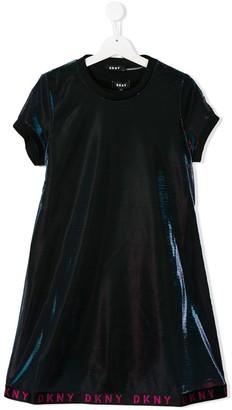 DKNY metallic threading dress