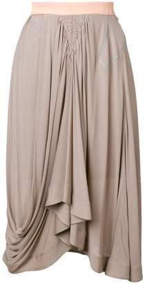 Chloé draped midi skirt