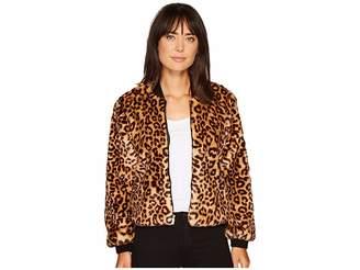 Splendid Leopard Faux Fur Jacket Women's Coat