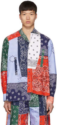 Loewe Multicolor Asymmetric Bandana Patchwork Shirt