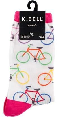 K. Bell Novelty Crew Socks - Colorful Bikes