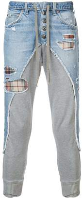 Greg Lauren panelled tapered trousers