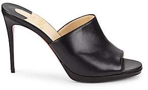 Christian Louboutin Women's Pigamule 100 Leather Mules