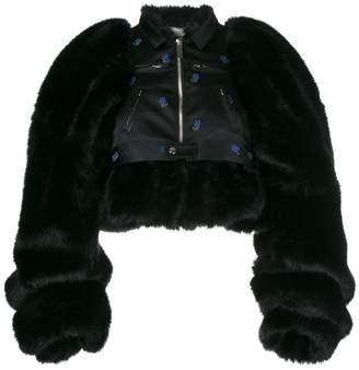 Comme des Garcons faux fur biker jacket