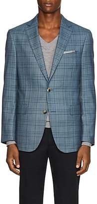 Pal Zileri MEN'S PLAID WOOL TWO-BUTTON SPORTCOAT - BLUE SIZE 42 S