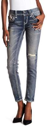 Rock Revival Faded Distressed Skinny Jeans