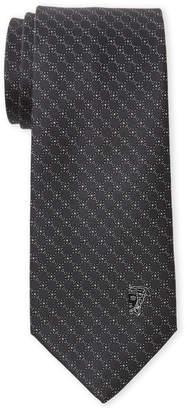Versace Charcoal Pindot Circle Silk Tie